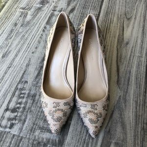 Tony Shoes of Hollywood Silver & Clear Platform Stiletto